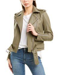 Walter Baker Allison Leather Jacket - Green