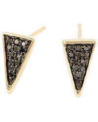 Adina Reyter - 14k Diamond Triangle Studs - Lyst