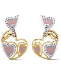 Roberto Coin 18k Two-tone 0.56 Ct. Tw. Diamond Earrings - Metallic