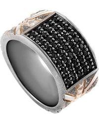 Stephen Webster Men's Silver Sapphire Ring - Metallic