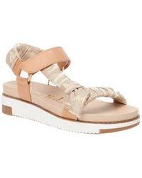 J.McLaughlin Aine Shoe Leather-trim Slingback - Natural