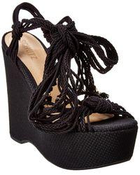 Schutz Kary Wedge Sandal - Black