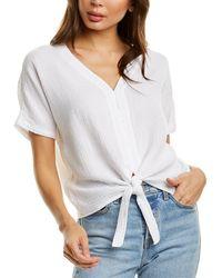 Bobi Tie-front T-shirt - White