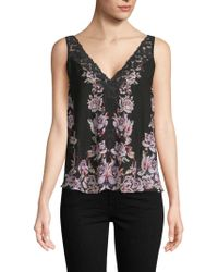 Free People - Floral Lace Camisole - Lyst