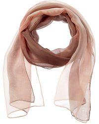 Eileen Fisher Sheer Shibori Blocks Silk Scarf - Brown