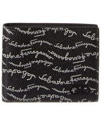 Ferragamo Black Signature Print Wallet