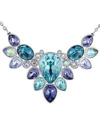 Swarovski Crystal Plated Necklace - Blue