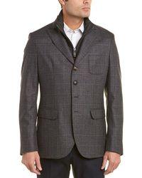 Pal Zileri Scooter Silk & Cashmere-blend Jacket - Gray