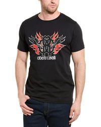 Roberto Cavalli Graphic T-shirt - Black