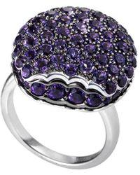 Boucheron Vintage Boucheron 18k 3.85 Ct. Tw. Diamond Tentation Macaron Ring - Blue