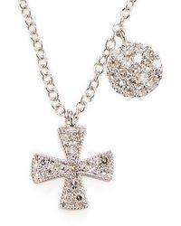 Meira T Cross Diamond & 14k Necklace - Metallic