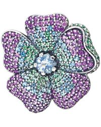 PANDORA Glorious Bloom Pendant And Brooch - Multicolour