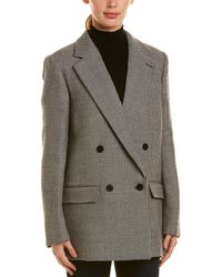 Stella McCartney Double-breasted Wool Coat - Grey