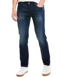 DIESEL Larkee Beex Medium Wash Tapered Leg - Blue