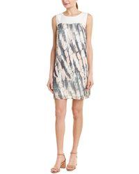 Quinn Pleated Silk Shift Dress - Multicolour
