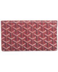 Goyard Red Ine Leather Richelieu Bifold Wallet