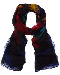 Alexander McQueen Silk-blend Scarf - Blue