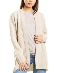 Vince Ribbed Back Wool & Cashmere-blend Cardigan - Gray