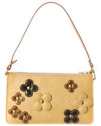 Louis Vuitton Yellow Monogram Vernis Leather Lexington Fleurs Pochette