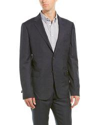Ermenegildo Zegna Z Zenga 2pc Wool Suit With Flat Pant - Black