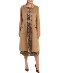 Michael Kors Wool & Angora-blend Trench Coat - Natural