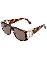 Chanel Women's Brown Tortoiseshell Sunglasses