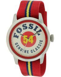 Fossil Men's Cloth Watch - Multicolour