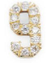Bianca Pratt - Single Small Number 9 Diamond Earrings - Lyst