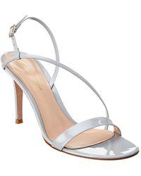 Gianvito Rossi Manhattan 85 Patent Sandal - Grey