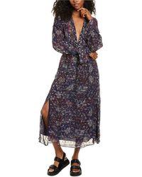 IRO Skage Midi Dress - Purple
