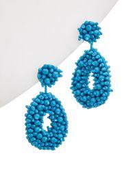 Kenneth Jay Lane Drop Earrings - Blue