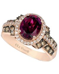 Le Vian ? 14k Rose Gold 2.72 Ct. Tw. Diamond & Rhodolite Ring - Pink