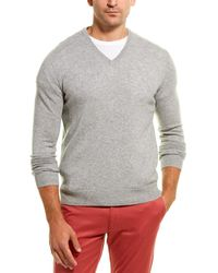 ed8223297d2 V-neck Cashmere Jumper - Gray