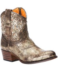 Frye Deborah Studded Leather Boot - Brown