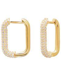 Gabi Rielle Sparkle-drenched 14k Over Silver Cz Diamondette Earrings - Metallic