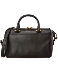 Saint Laurent Baby Leather Duffel Bag - Black