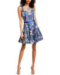 Bronx and Banco A-line Dress - Blue