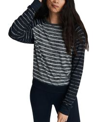 Rag & Bone - The Knit Striped Pullover Relaxed Fit Top - Lyst
