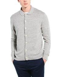 J.Crew Winter Cotton Wool Polo Cardigan - Grey
