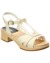 Swedish Hasbeens Ulla Low Leather Sandal - White