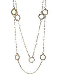 Gurhan Hoopla 24k Over Silver 38in Necklace - Metallic