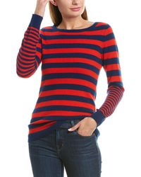 Qi Striped Cashmere Jumper - Blue