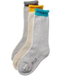 Yeezy 3pk Season 7 Socks - Grey