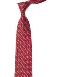 Ferragamo Red Bee Silk Tie