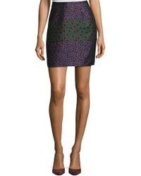 Cynthia Rowley   Metallic Daisy Jacquard Skirt   Lyst