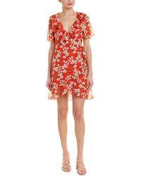 Dance & Marvel Floral Wrap Dress - Red