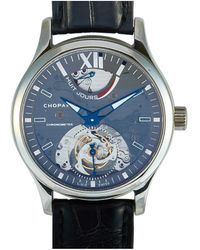 Chopard 168561-3001 L.u.c Perpetual Twin Stainless Steel And Alligator Leather Chronometer Watch - Metallic