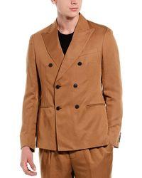 Reiss Alabama Linen-blend Blazer - Brown
