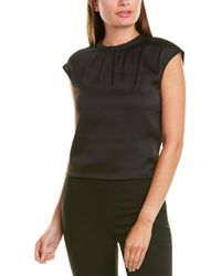 Vince Camuto Shirred Top - Black