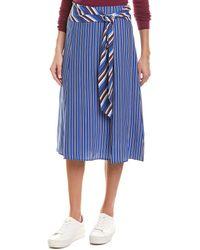 Rag & Bone Felix Silk Striped Skirt - Blue